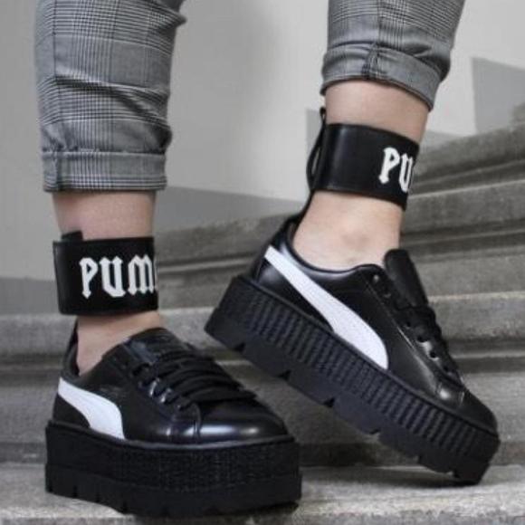 fenty puma strap platform sneakers
